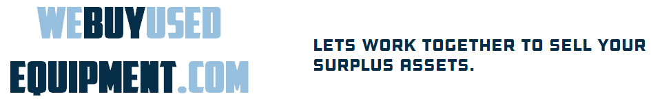 We Buy Used Equipment